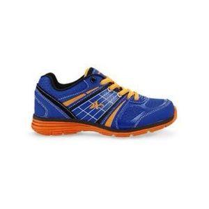 Boys Athletech blue orange sneakers size 3 M
